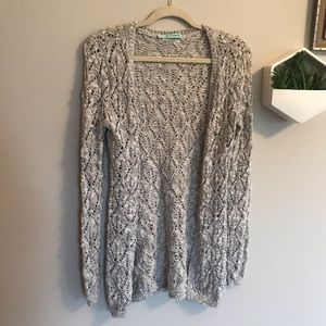 Sparkly Open Knit Cardigan